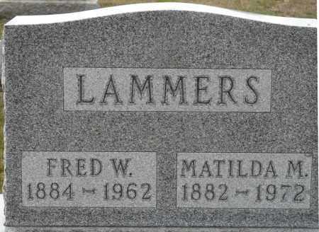 LAMMERS, MATILDA M - Auglaize County, Ohio | MATILDA M LAMMERS - Ohio Gravestone Photos