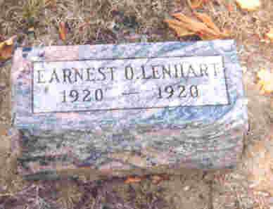 LENHART, EARNEST ORDELL - Auglaize County, Ohio | EARNEST ORDELL LENHART - Ohio Gravestone Photos
