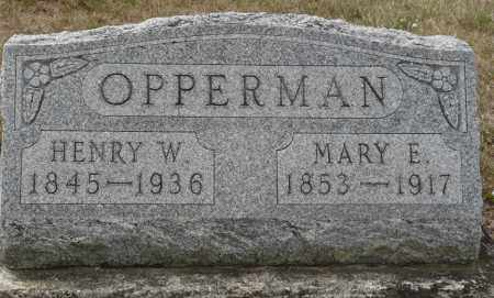 OPPERMAN, MARY ELIZABETH - Auglaize County, Ohio | MARY ELIZABETH OPPERMAN - Ohio Gravestone Photos