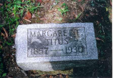 TITUS, MARGARET F - Auglaize County, Ohio | MARGARET F TITUS - Ohio Gravestone Photos