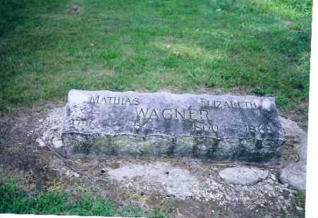 WAGNER, ELIZABETH - Auglaize County, Ohio | ELIZABETH WAGNER - Ohio Gravestone Photos