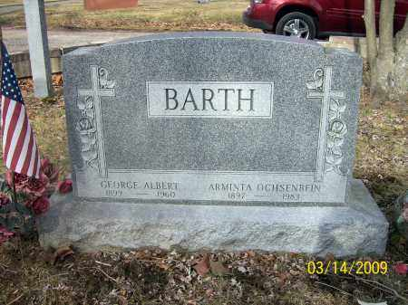 BARTH, GEORGE ALBERT - Belmont County, Ohio | GEORGE ALBERT BARTH - Ohio Gravestone Photos