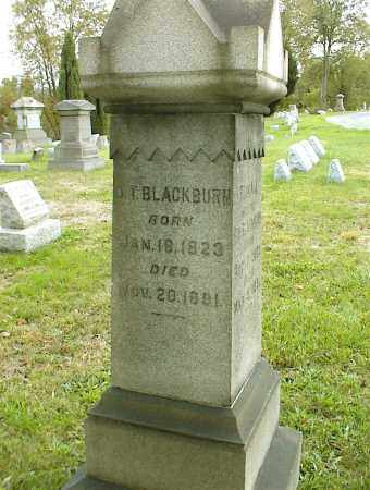 BLACKBURN, OLIVER T - Belmont County, Ohio | OLIVER T BLACKBURN - Ohio Gravestone Photos