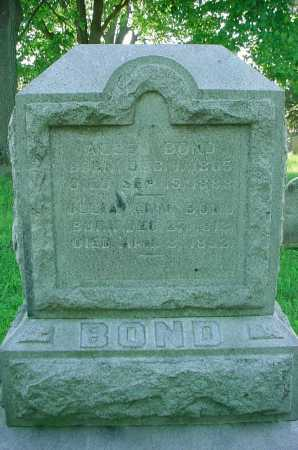 BOND, JULIA - Belmont County, Ohio | JULIA BOND - Ohio Gravestone Photos