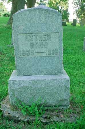 BOND, ESTHER - Belmont County, Ohio | ESTHER BOND - Ohio Gravestone Photos