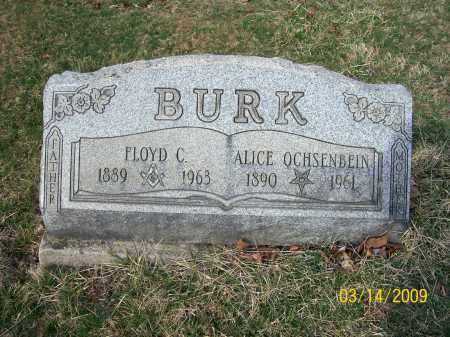 BURK, ALICE - Belmont County, Ohio | ALICE BURK - Ohio Gravestone Photos
