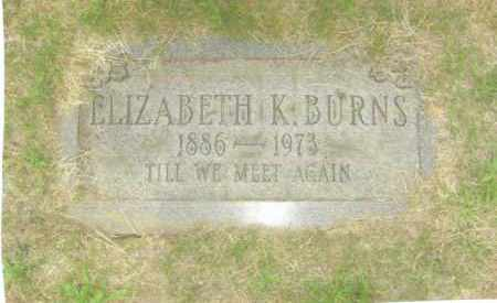 KEENAN BURNS, ELIZABETH - Belmont County, Ohio | ELIZABETH KEENAN BURNS - Ohio Gravestone Photos