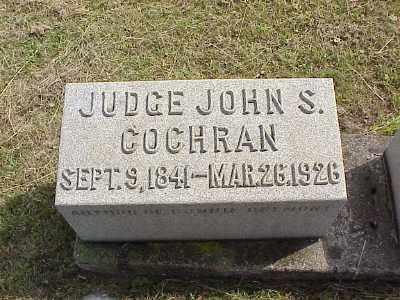COCHRAN, JUDGE JOHN SALISBURY - Belmont County, Ohio | JUDGE JOHN SALISBURY COCHRAN - Ohio Gravestone Photos
