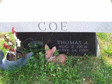 COE, THOMAS A - Belmont County, Ohio   THOMAS A COE - Ohio Gravestone Photos