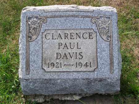 DAVIS, CLARENCE PAUL - Belmont County, Ohio   CLARENCE PAUL DAVIS - Ohio Gravestone Photos