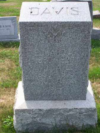 DAVIS, EDWARD A - Belmont County, Ohio | EDWARD A DAVIS - Ohio Gravestone Photos