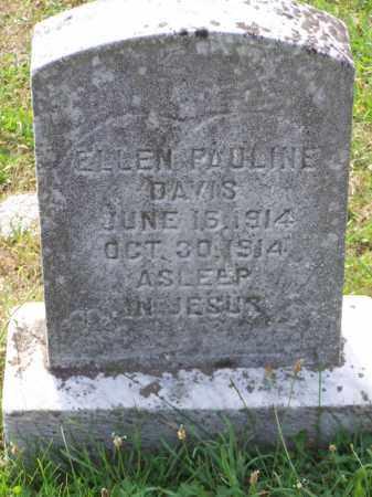 DAVIS, ELLEN PAULINE - Belmont County, Ohio | ELLEN PAULINE DAVIS - Ohio Gravestone Photos