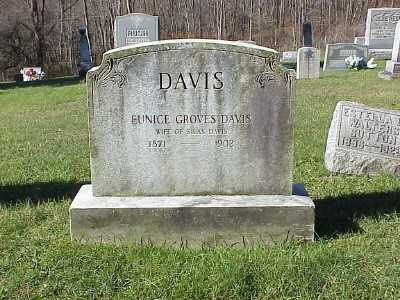 GROVES DAVIS, EUNICE - Belmont County, Ohio | EUNICE GROVES DAVIS - Ohio Gravestone Photos