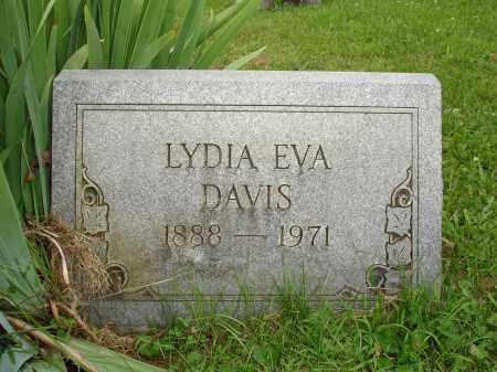 DAVIS, LYDIA EVA - Belmont County, Ohio | LYDIA EVA DAVIS - Ohio Gravestone Photos