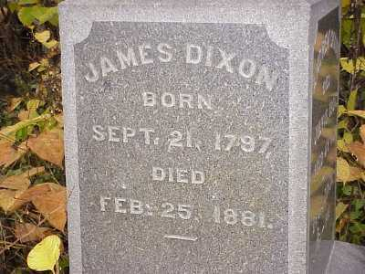 DIXON, JAMES - Belmont County, Ohio | JAMES DIXON - Ohio Gravestone Photos