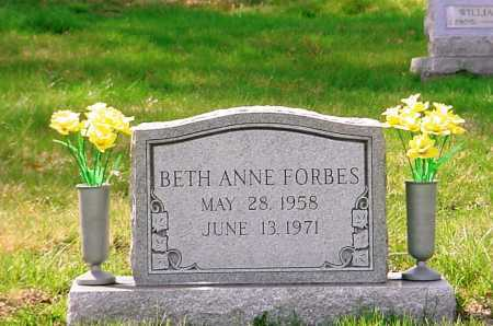 FORBES, BETH ANNE - Belmont County, Ohio | BETH ANNE FORBES - Ohio Gravestone Photos