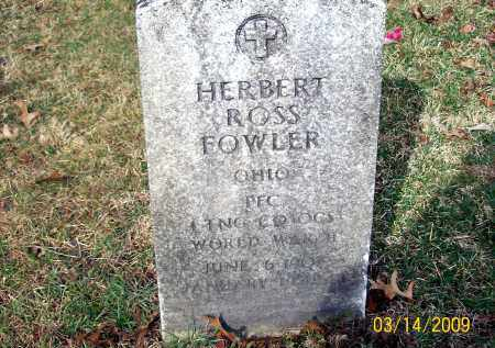 FOWLER, HERBERT ROSS - Belmont County, Ohio | HERBERT ROSS FOWLER - Ohio Gravestone Photos