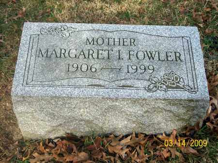 FOWLER, MARGARET I - Belmont County, Ohio | MARGARET I FOWLER - Ohio Gravestone Photos