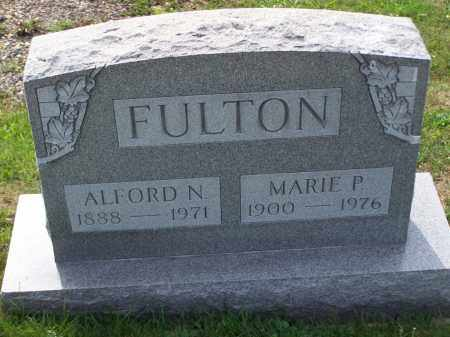 FULTON, ALFORD N - Belmont County, Ohio | ALFORD N FULTON - Ohio Gravestone Photos