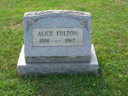 FULTON, ALICE - Belmont County, Ohio | ALICE FULTON - Ohio Gravestone Photos