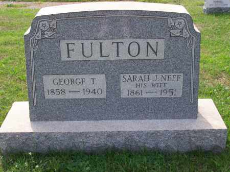 NEFF FULTON, SARAH J - Belmont County, Ohio | SARAH J NEFF FULTON - Ohio Gravestone Photos