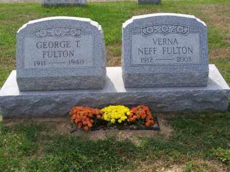 NEFF FULTON, VERNA - Belmont County, Ohio | VERNA NEFF FULTON - Ohio Gravestone Photos