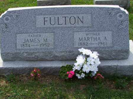 FULTON, MARTHA A - Belmont County, Ohio | MARTHA A FULTON - Ohio Gravestone Photos