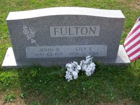 FULTON, LILY E - Belmont County, Ohio | LILY E FULTON - Ohio Gravestone Photos