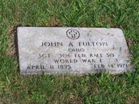 FULTON, JOHN A - Belmont County, Ohio | JOHN A FULTON - Ohio Gravestone Photos