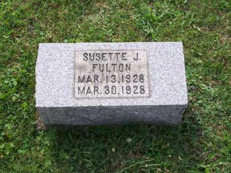 FULTON, SUSETTE J - Belmont County, Ohio | SUSETTE J FULTON - Ohio Gravestone Photos