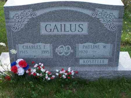 KOSTELIA GAILUS, PAULINE W - Belmont County, Ohio | PAULINE W KOSTELIA GAILUS - Ohio Gravestone Photos