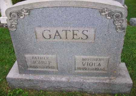 GATES, JOHN P - Belmont County, Ohio | JOHN P GATES - Ohio Gravestone Photos