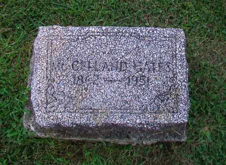 GATES, MCCELLAND - Belmont County, Ohio | MCCELLAND GATES - Ohio Gravestone Photos