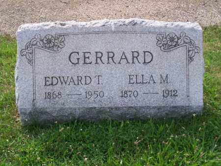 GERRARD, EDWARD T - Belmont County, Ohio | EDWARD T GERRARD - Ohio Gravestone Photos