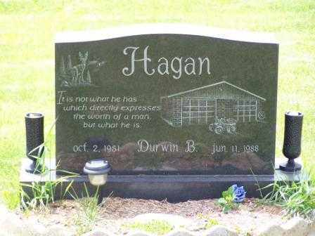 HAGAN, DURWIN B - Belmont County, Ohio | DURWIN B HAGAN - Ohio Gravestone Photos
