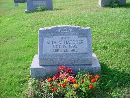 HATCHER, ALTA V. - Belmont County, Ohio | ALTA V. HATCHER - Ohio Gravestone Photos
