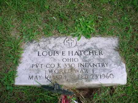 HATCHER, LOUIS E. - Belmont County, Ohio | LOUIS E. HATCHER - Ohio Gravestone Photos