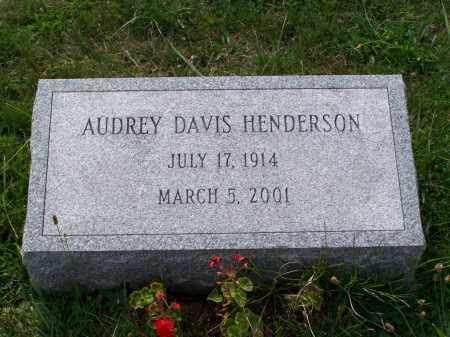 DAVIS HENDERSON, AUDREY - Belmont County, Ohio | AUDREY DAVIS HENDERSON - Ohio Gravestone Photos