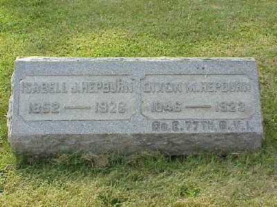 HEPBURN, DIXON M - Belmont County, Ohio | DIXON M HEPBURN - Ohio Gravestone Photos
