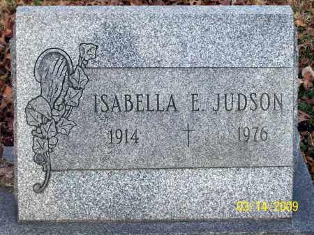 JUDSON, ISABELLA E. - Belmont County, Ohio | ISABELLA E. JUDSON - Ohio Gravestone Photos