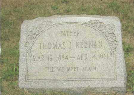 KEENAN, THOMAS JAMES - Belmont County, Ohio | THOMAS JAMES KEENAN - Ohio Gravestone Photos