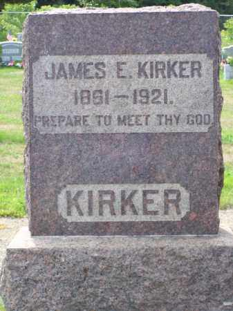 KIRKER, JAMES E - Belmont County, Ohio | JAMES E KIRKER - Ohio Gravestone Photos