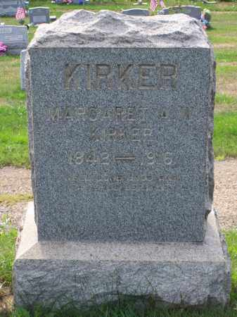 KIRKER, MARGARET A W - Belmont County, Ohio | MARGARET A W KIRKER - Ohio Gravestone Photos