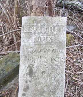 LEE, UNKNOWN WILLIAM - Belmont County, Ohio   UNKNOWN WILLIAM LEE - Ohio Gravestone Photos