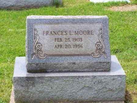 HOLLINGSWORTH MOORE, FRANCES L - Belmont County, Ohio | FRANCES L HOLLINGSWORTH MOORE - Ohio Gravestone Photos