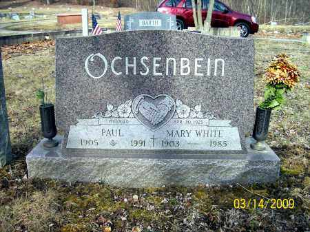 WHITE OCHSENBEIN, MARY - Belmont County, Ohio | MARY WHITE OCHSENBEIN - Ohio Gravestone Photos