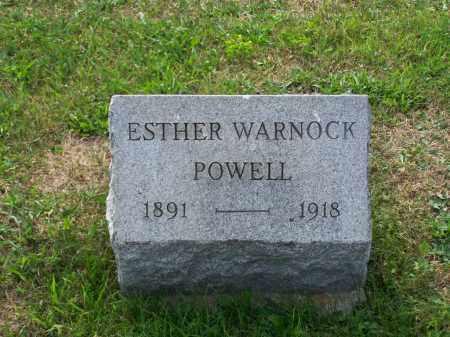 WARNOCK POWELL, ESTHER - Belmont County, Ohio | ESTHER WARNOCK POWELL - Ohio Gravestone Photos