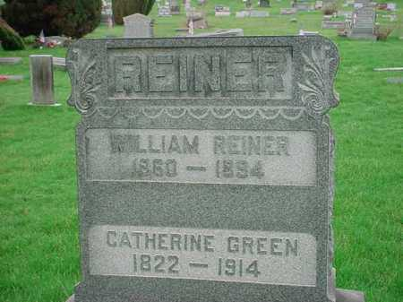 REINER, WILLIAM - Belmont County, Ohio | WILLIAM REINER - Ohio Gravestone Photos