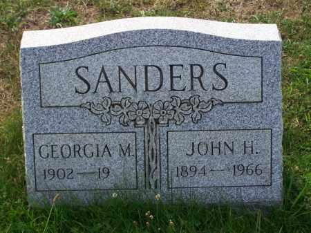 SANDERS, JOHN H - Belmont County, Ohio | JOHN H SANDERS - Ohio Gravestone Photos