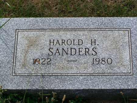SANDERS, HAROLD H - Belmont County, Ohio | HAROLD H SANDERS - Ohio Gravestone Photos
